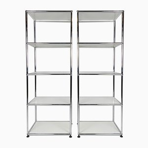 Industrial Steel Bookcase by Fritz Haller & Paul Schärer for USM Haller, 1980s