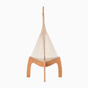 Silla suiza Harp de madera de fresno, años 70
