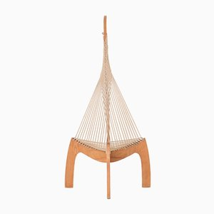 Swiss Ashwood Harp Chair, 1970s