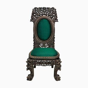 Chaise d'Appoint Antique en Soie, Chine
