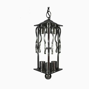 Vintage Art Deco French Steel Lantern Light, 1930s