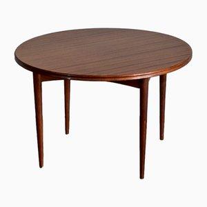 Tavolino da caffè rotondo Mid-Century in afrormosia di Richard Hornby per Heal's, anni '60
