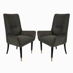 Mid-Century Italian Side Chairs, 1950s, Set of 2
