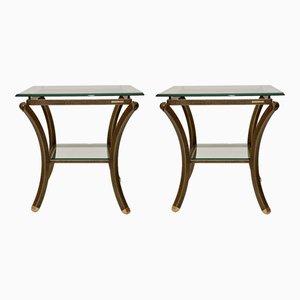 Tables d'Appoint Vintage par Pierre Vandel, France, 1970s, Set de 2