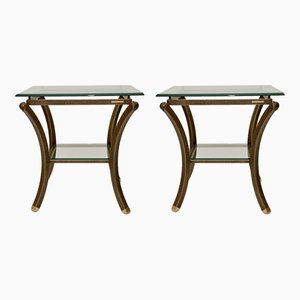 Vintage French Side Tables by Pierre Vandel, 1970s, Set of 2