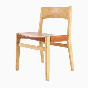 Vintage Esszimmerstühle mit Gestell aus Eiche & Ledersitz von John Vedel-Rieper für Källemo, 1960er, 4er Set