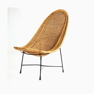 Vintage Model Great Kraal Lounge Chair by Kerstin Hörlin-Holmquist for Nordiska Kompaniet, 1950s
