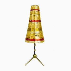 Lámpara de mesa Sputnik Mid-Century trípode de latón, años 60