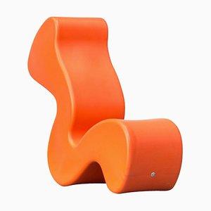Sedia Phantom arancione di Verner Panton per Innovation Randers, anni '90