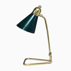 Lámpara de mesa francesa vintage de latón de Robert Mathieu, años 50