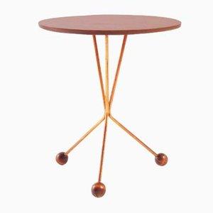 Mesa auxiliar vintage de teca y cobre de Albert Larsson para Alberts Tibro, años 50