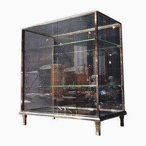 Antique Glass Cabinet, 1900s