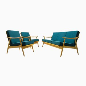 Mid-Century Living Room Set in Teal, 1967