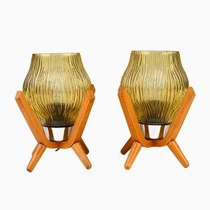 Lampes de Bureau Style Rétro Vintage, 1970s, Set de 2