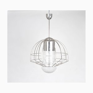Mid-Century Deckenlampe aus Glas im Retrostil