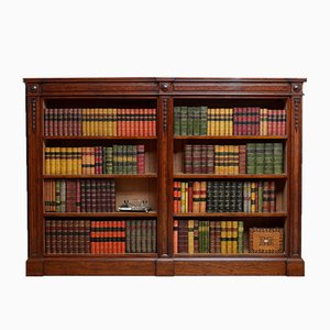 Antikes viktorianisches offenes Bücherregal aus Mahagoni