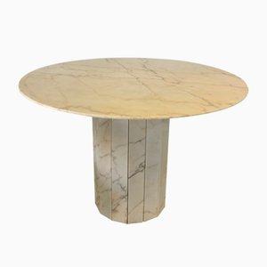 Mesa de comedor italiana de mármol, años 70