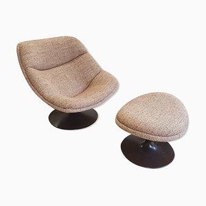 Chaise et Ottomane Modèle F557 par Pierre Paulin pour Artifort, 1960s