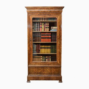 Antique Figured Walnut Bookcase