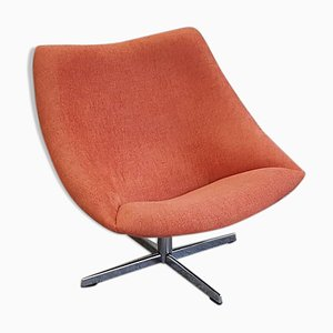 Red Oyster Swivel Chair by Pierre Paulin for Artifort, 1960s