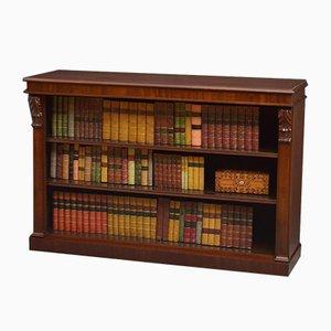 Viktorianisches offenes Bücherregal aus Mahagoni