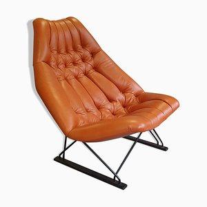 Prototipo del sillón modelo F592 de Geoffrey Harcourt para Artifort, años 60