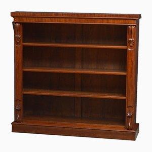 Victorian Open Mahogany Bookcase