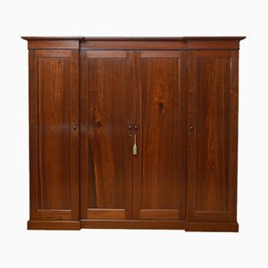 Early Victorian Four-Door Wardrobe