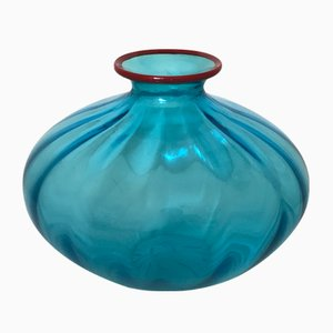 Ovoid Murano Glass Lens Vase by Paolo Venini, 2000s