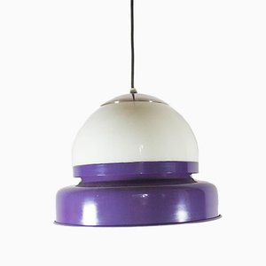 Vintage Purple Glass Ceiling Lamp, 1970s