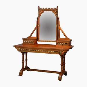 Antique Gothic Revival Dressing Table