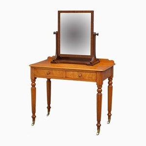 Viktorianischer Schreibtisch aus satinierter Birke