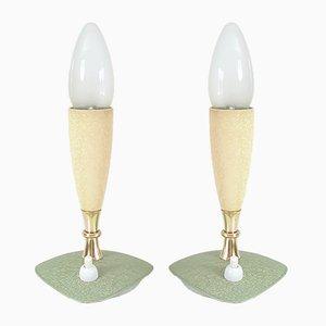 Deutsche Mid-Century Tischlampen, 1950er, 2er Set