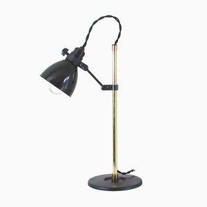 Lámpara de mesa alemana industrial de baquelita, años 50