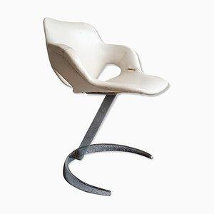 Weißer Stuhl von Boris Tabacoff für MMF, 1960er