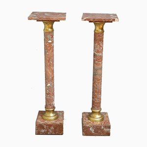 Victorian Marble Columns, Set of 2