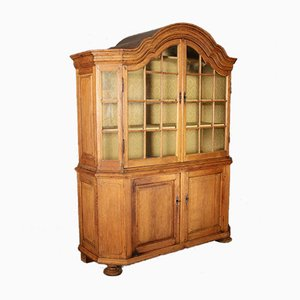 Large Baroque Oak Display Cabinet