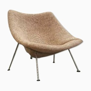 Brown Oyster Chair by Pierre Paulin for Artifort, 1960s