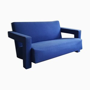 Blue Utrecht Sofa by Gerrit Thomas Rietveld for Metz & Co., 1950s