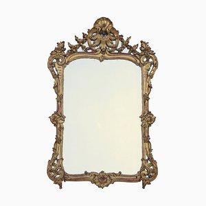 Antiker Louis XV Spiegel mit vergoldetem Holzrahmen