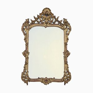 Antique Louis XV Style Giltwood Mirror