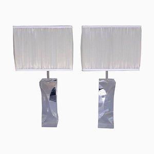 Lámparas de plexiglás, años 70. Juego de 2