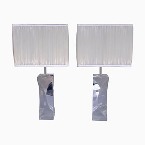 Plexiglas Lamps, 1970s, Set of 2