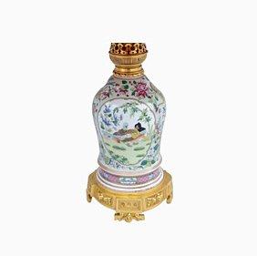 Porzellanlampe im chinesischen Stil, 1880er
