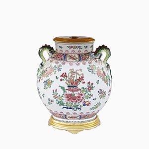 Antike chinesische Wucai Lampe aus Porzellan