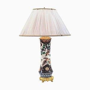 Lámpara Imari Green Family de bronce dorado y porcelana, década de 1880