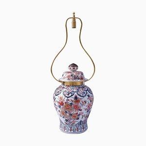 Lámpara de mesa grande con jarrón en forma de balaustre, años 50