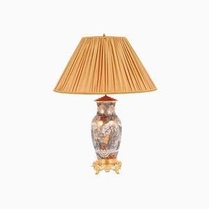 Lámpara Satsuma antigua de arenisca