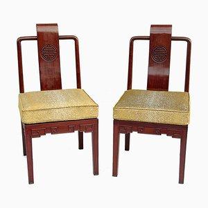 Antike Stühle aus Mahagoni im chinesischen Stil, 2er Set