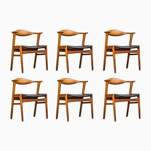 Model 49 Teak Armchairs by Erik Kirkegaard for Høng Stolefabrik, 1960s, Set of 6